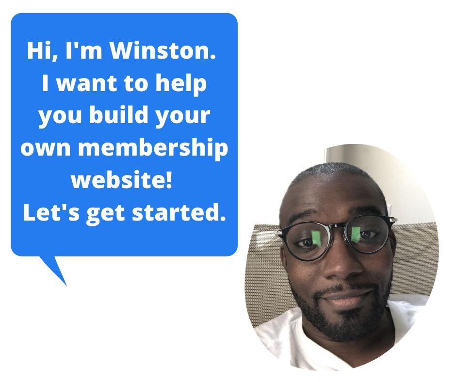 Let's get started building your website! winstonndow.com intro pic